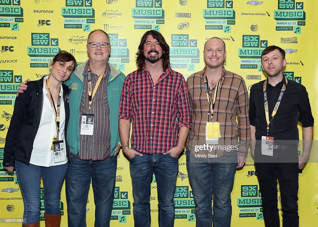 Melissa Williams, Roland Swenson, musician Dave Grohl, Darin Klein and James Minor at SXSW Keynote: Dave Grohl during the 2013 SXSW Music, Film + Interactive Festival at Austin Convention Center on March 14, 2013 in Austin, Texas.