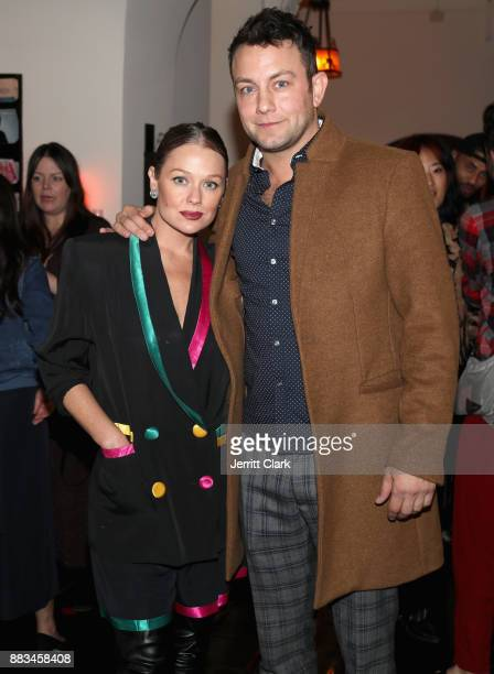 Melissa Woodbury and Jonathan Sadowski at the LAND of distraction Launch Party at Chateau Marmont on November 30 2017 in Los Angeles California