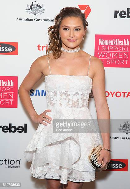 Melissa Wu arrives ahead of the Women's Health I Support Women In Sport Awards at Carriageworks on October 5 2016 in Sydney Australia