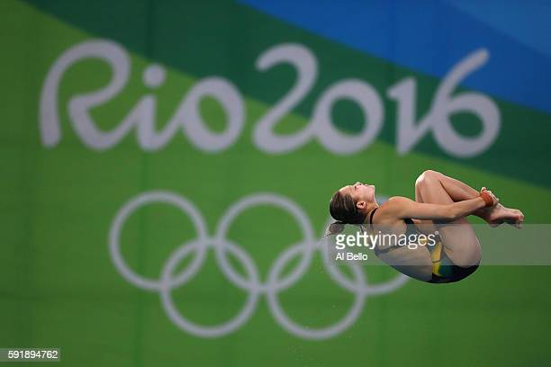 Melissa Wu of Australia competes during the Women's 10m Platform final diving at the Maria Lenk Aquatics Centre on day 13 of the 2016 Rio Olympic...