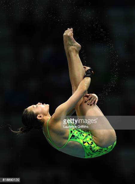 Melissa Wu of Australia competes during the Women's Diving 10m Platform final on day six of the Budapest 2017 FINA World Championships on July 19...