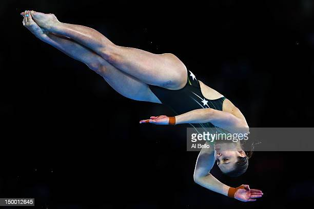 Melissa Wu of Australia competes in the Women's 10m Platform Diving Preliminary on Day 12 of the London 2012 Olympic Games at the Aquatics Centre on...