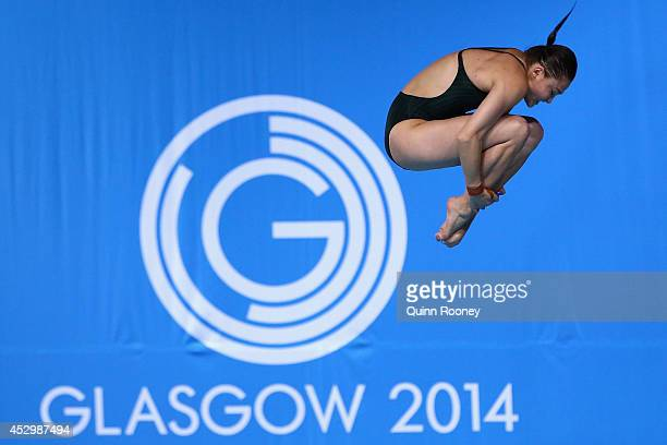 Melissa Wu of Australia competes in the Women's 10m Platform Final at Royal Commonwealth Pool during day eight of the Glasgow 2014 Commonwealth Games...