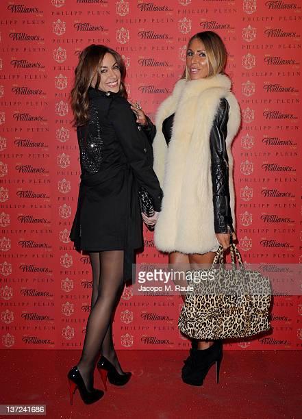 Melita Toniolo and Guendalina Canessa attends the Philipp Plein fashion show as part of Milan Fashion Week Menswear Autumn/Winter 2012 at William's...