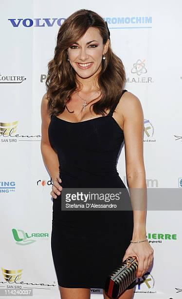 Melita Toniolo attends 'Premio Gentleman San Siro' held at Marriott Hotel on May 16 2011 in Milan Italy