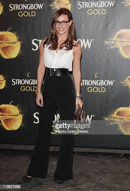 Melita Toniolo attends 'The Gold Experience' red carpet on May 6 2011 in Milan Italy