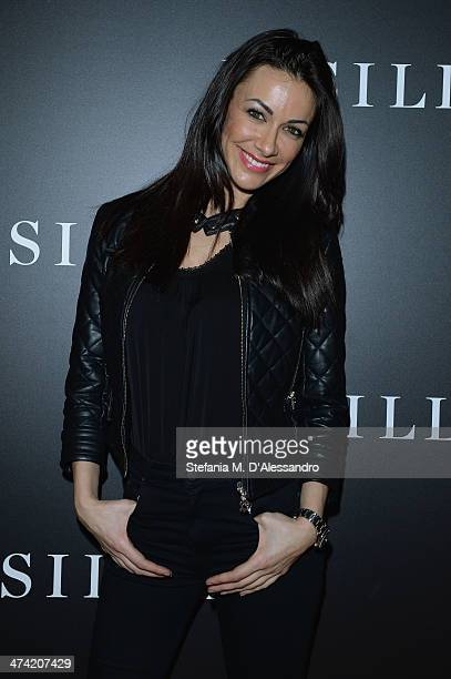 Melita Toniolo attends the Le Silla Fall/Winter 201415 Collection Presentation as part of Milan Fashion Week Womenswear Autumn/Winter 2014 on...