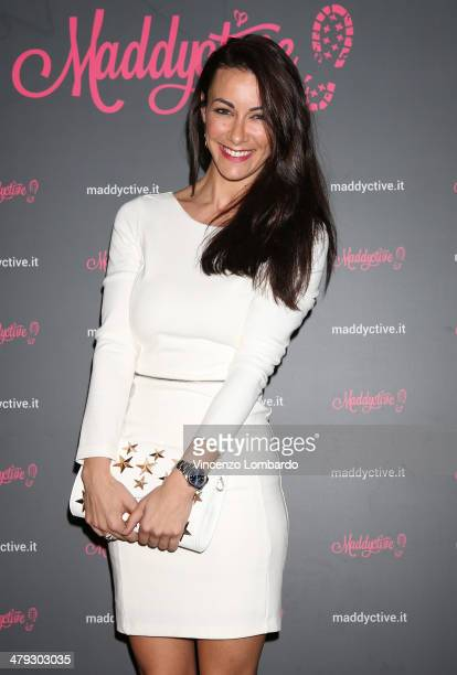 Melita Toniolo attends the Maddalena Corvaglia Presents Maddyctive Web Magazine at Old Fashion Cafe on March 17 2014 in Milan Italy