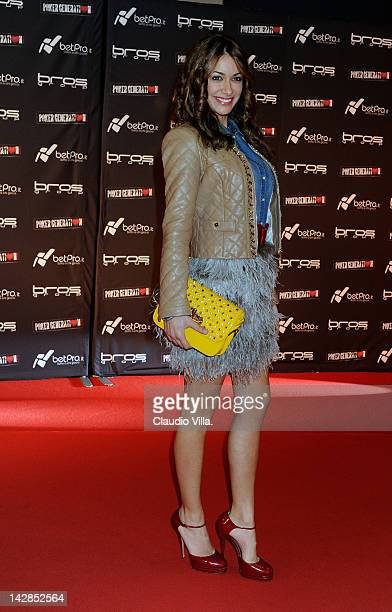 Melita Toniolo attends the Milan premiere of 'Poker Generation' at Bicocca Village on April 13 2012 in Milan Italy