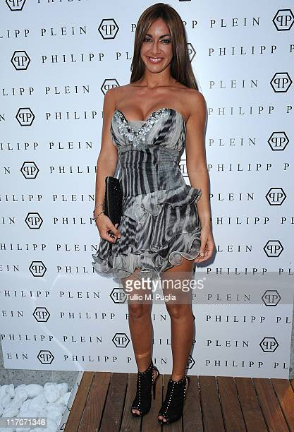 Melita Toniolo attends the Philipp Plein cocktail party after fashion show as part of Milan Fashion Week Menswear Spring/Summer 2012 on June 20 2011...