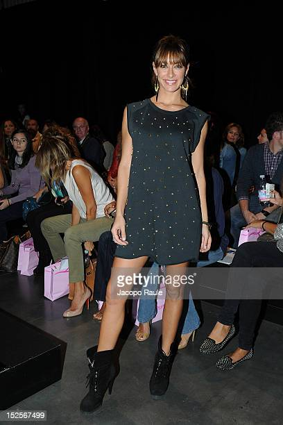 Melita Toniolo attends the runway at the PinUp Star Spring/Summer 2013 fashion show as part of Milan Womenswear Fashion Week on September 22 2012 in...