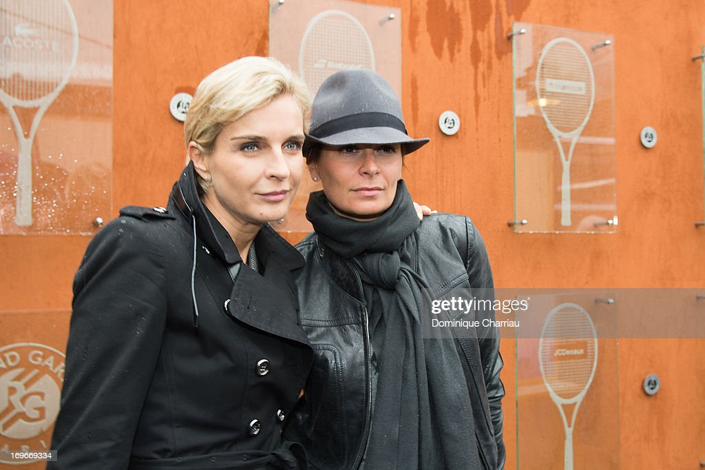 Melita Toscan du Plantier and Brune de Margerie sighting At French Open 2013 at Roland Garros on May 30, 2013 in Paris, France.