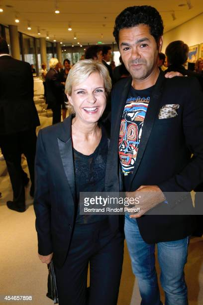 Melita Toscan du Plantier and humorist Jamel Debbouze attend the 'Jerome Seydoux Pathe Foundation' Opening party on September 4 2014 in Paris France