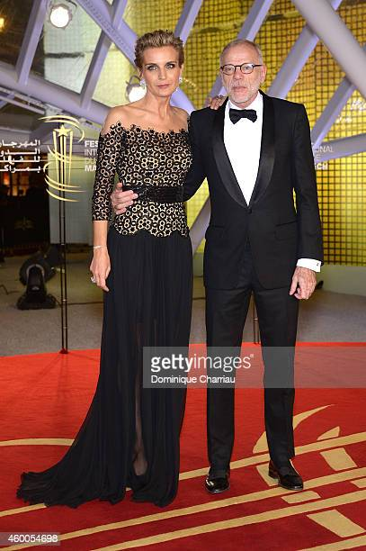 Melita Toscan du Plantier and Pascal Greggory attend the Evening Tribute To Jeremy Irons as part of the 14th Marrakech International Film Festival on...