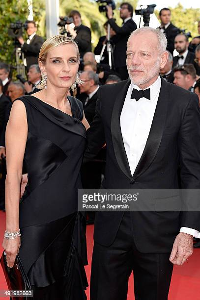 Melita Toscan du Plantier and Pascal Greggory attend 'The Homesman' premiere during the 67th Annual Cannes Film Festival on May 18 2014 in Cannes...