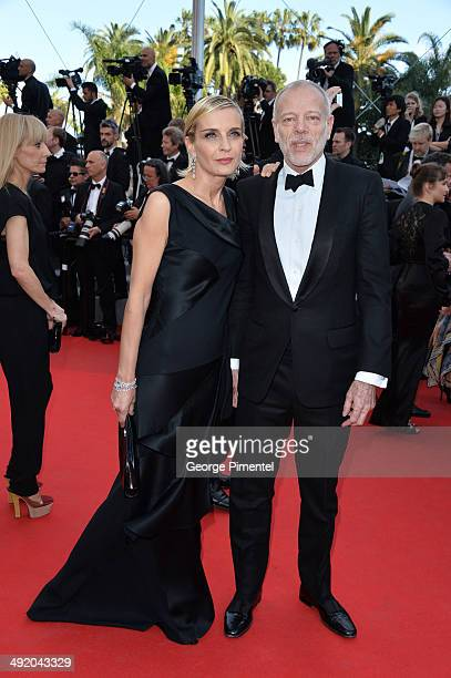 Melita Toscan Du Plantier and Pascal Greggory attends 'The Homesman' Premiere at the 67th Annual Cannes Film Festival on May 18 2014 in Cannes France