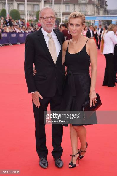 Melita Toscan du Plantier and Pascal Gregory arrive at the opening ceremony of 40th Deauville American Film Festival on September 5 2014 in Deauville...