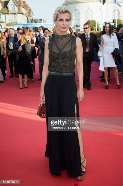 Melita Toscan du Plantier arrives for the screening of the film 'Good Time' during the 43rd Deauville American Film Festival on September 2 2017 in...