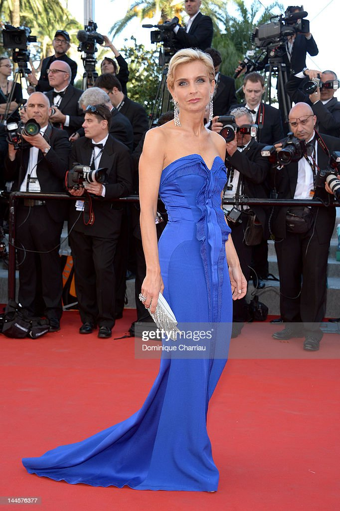 Melita Toscan Du Plantier attends the Opening Ceremony and 'Moonrise Kingdom' Premiere during the 65th Annual Cannes Film Festival at the Palais des Festivals on May 16, 2012 in Cannes, France.