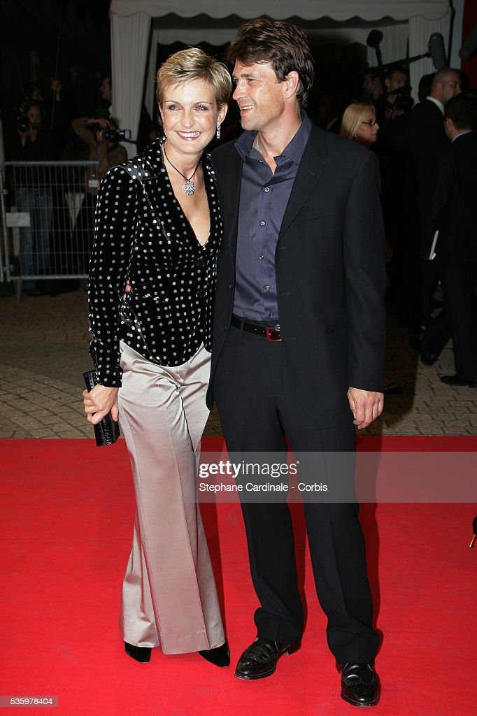 Melita Toscan Du Plantier, Dougrey Scott at the opening ceremony of the 31st American Deauville Film Festival.