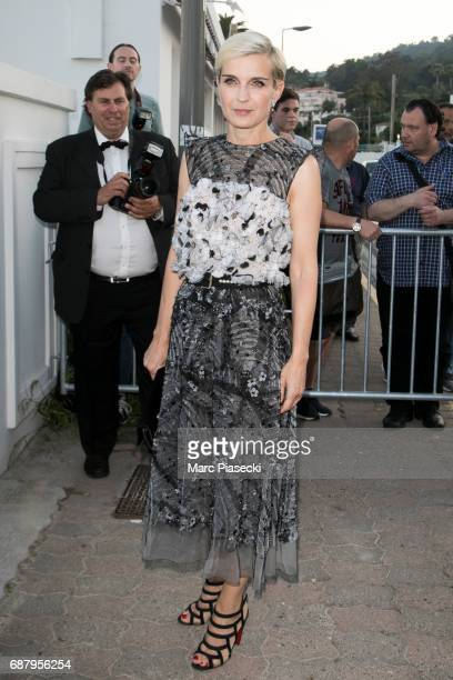 Melita Toscan du Plantier s is seen during the 70th annual Cannes Film Festival at the 'Vanity Fair CHANEL' dinner at Tetou restaurant on May 24 2017...