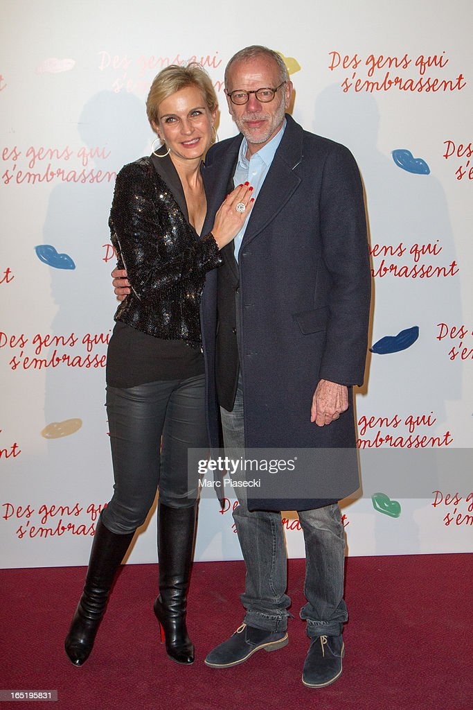 Melitta Toscan du Plantier and actor Pascal Greggory attend the 'Des Gens Qui S'embrassent' Premiere at Cinema Gaumont Marignan on April 1, 2013 in Paris, France.