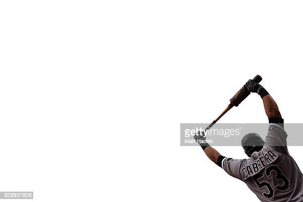 Melky Cabrera of the Chicago White Sox waits in the on deck circle during a game against the Baltimore Orioles at Oriole Park at Camden Yards on May...