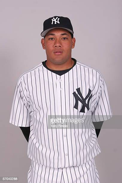 Melky Cabrera of the New York Yankees during photo day at Legends Field on February 24 2006 in Tampa Florida