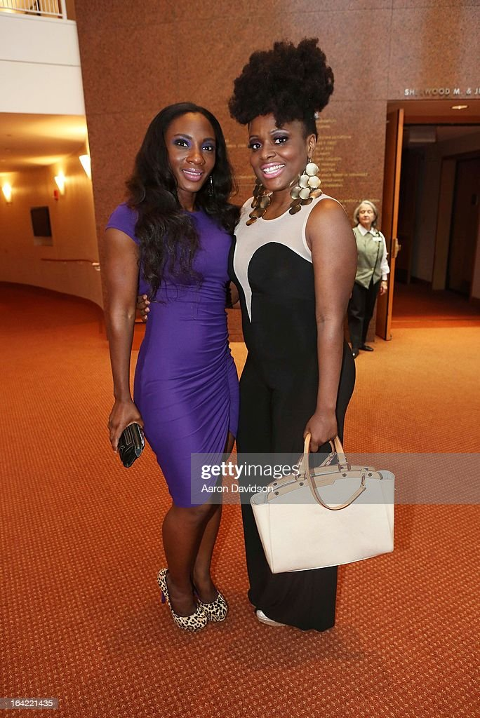 Melky Jean and Natasha Housen attend opening night screening of 'Free Angela' during the 2013 Women's International Film and Arts Festival at Adrienne Arsht Center on March 20, 2013 in Miami, Florida.
