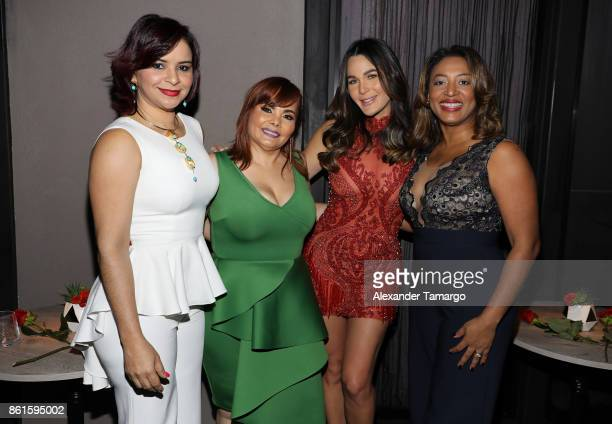 Melkys Diaz Rommy Grullon Luz Garcia and Irene Morillo are seen at the Women In Film Dominicana Pre Iris Movie Awards Celebration at The Wine Room on...