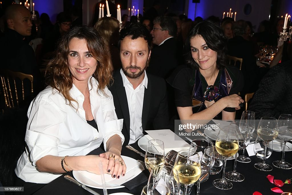 Melle Agnes, Anthony Vaccarello and Clotilde Hesme attend the Babeth Djian Hosts Dinner For Rwanda To The Benefit Of A.E.M. on December 6, 2012 in Paris, France.