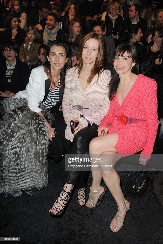 Melle Agnes, Lea Drucker and Frederique Lopez attend the Sonia Rykiel Ready To Wear show, as part of the Paris Fashion Week Fall/Winter 2010-2011.