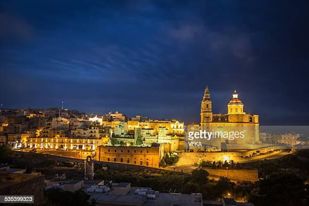 Mellieha, Malta at night