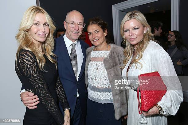Mellisa Odabash Dylan Jones Averyl Oates and Fru Tholstrup attend a Contemporary Art party hosted by Tommy Hilfiger Dylan Jones and Sotheby's at...