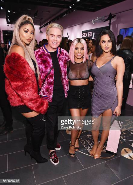 Melly Sanchez Jerrod Blandino Isabel Bedoya Christen Dominique attend Too Faced's Better Than Sex Popup Launch on October 18 2017 in New York City
