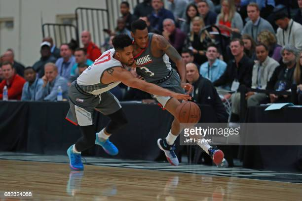 Melo Trimble and Monte Morris go for a loose ball during the NBA Draft Combine at the Quest Multisport Center on May 11 2017 in Chicago Illinois NOTE...