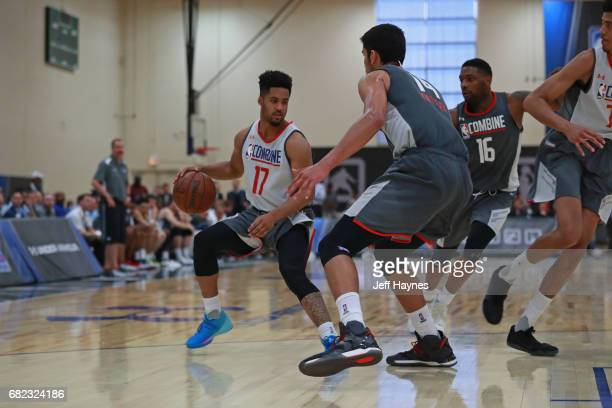 Melo Trimble dribbles the ball the NBA Draft Combine at the Quest Multisport Center on May 11 2017 in Chicago Illinois NOTE TO USER User expressly...