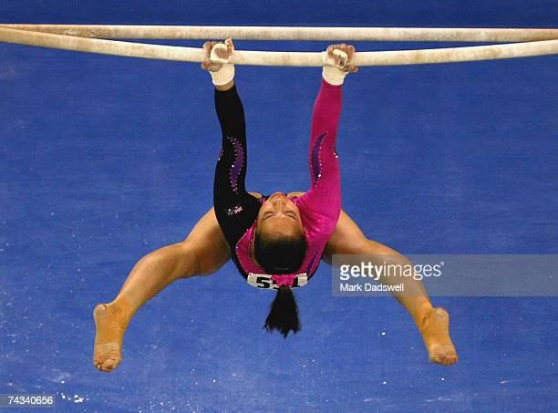 Melody Hernandez of Australia competes on the uneven bars during the International Apparatus Challenge at the Vodafone Arena May 27 2007 in Melbourne...