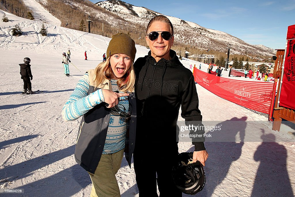 Melody Pfeiffer and actor Tony Danza attend Burton Learn To Ride - Day 2 on January 20, 2013 in Park City, Utah.