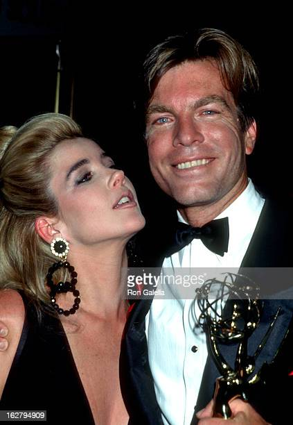 Melody Thomas Scott and Peter Bergman attend 18th Annual Daytime Emmy Awards on June 27 1991 at the Marriott Marquis Hotel in New York City
