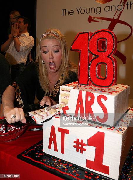 Melody Thomas Scott during 'The Young and the Restless' is the TopRated Daytime Drama for the 939th Consecutive Week 18 Years on Top at CBS...