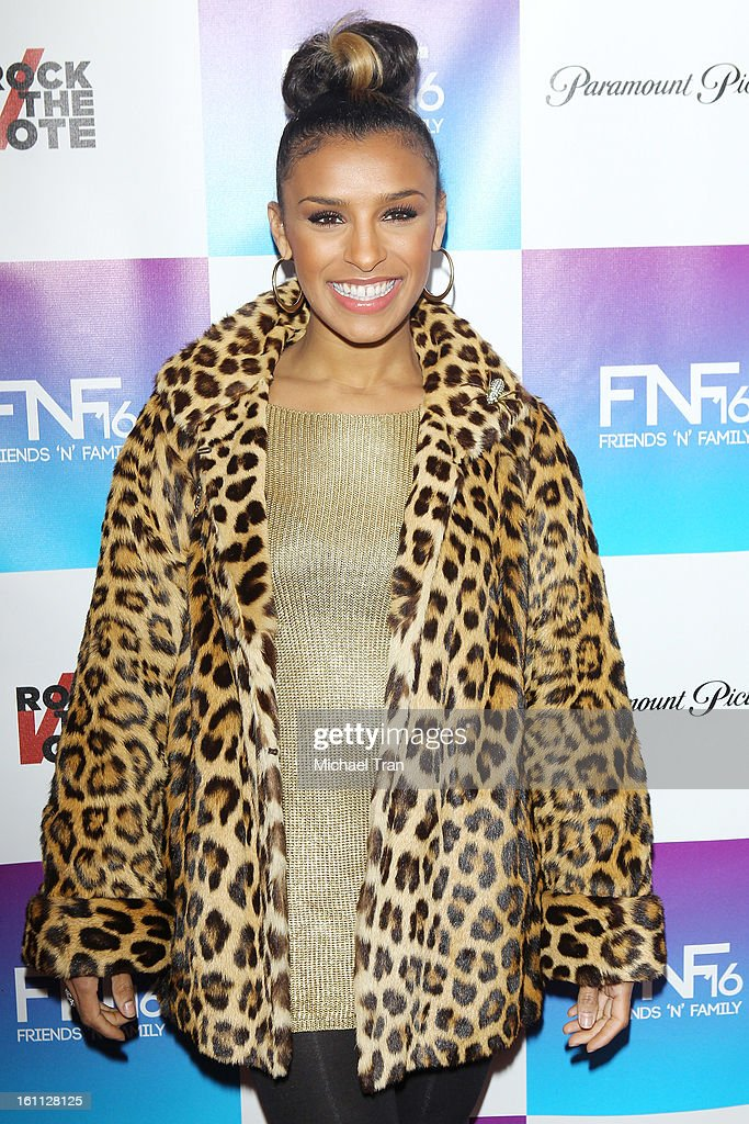 Melody Thornton arrives at the 16th Annual 'Friends And Family' pre-GRAMMY event held at Paramount Studios on February 8, 2013 in Hollywood, California.