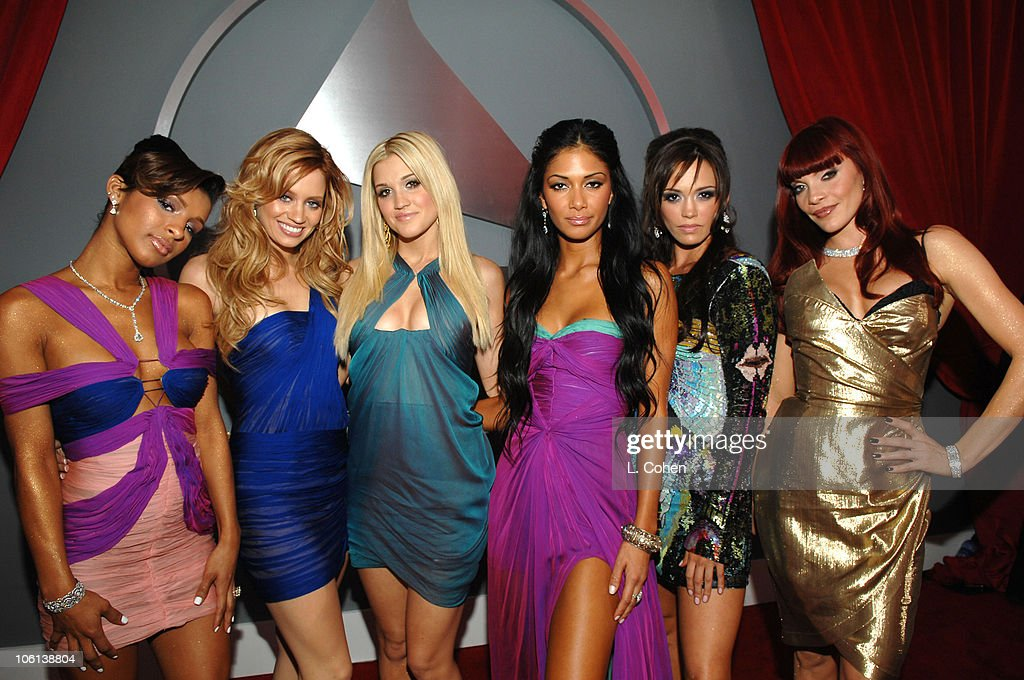 Melody Thornton, Kimberly Wyatt, Ashley Roberts, Nicole Scherzinger, Jessica Sutta and Carmit Bachar of the Pussycat Dolls, nominees Best Pop Performance By A Duo Or Group With Vocal for 'Stickwitu'