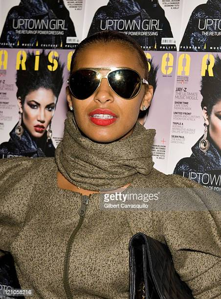 Melody Thornton of the Pussy Cat Dolls attends Thisday/Arise Magazine Spring 2010 during MercedesBenz Fashion Week at Bryant Park on September 11...