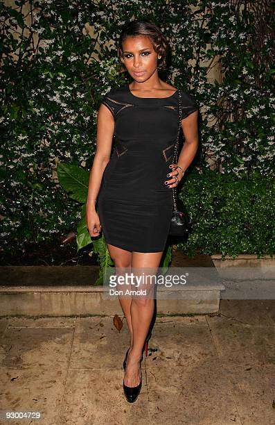Melody Thornton of The Pussycat Dolls attends the Cartier Trinity Collection Launch at Altona on November 12 2009 in Sydney Australia