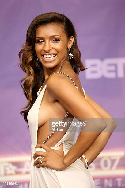 Melody Thornton presenter during BET Awards 2007 Press Room at Shrine Auditorium in Los Angeles California United States