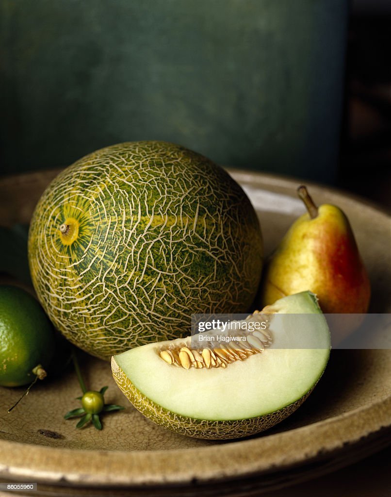 Melon and pear : Stock Photo