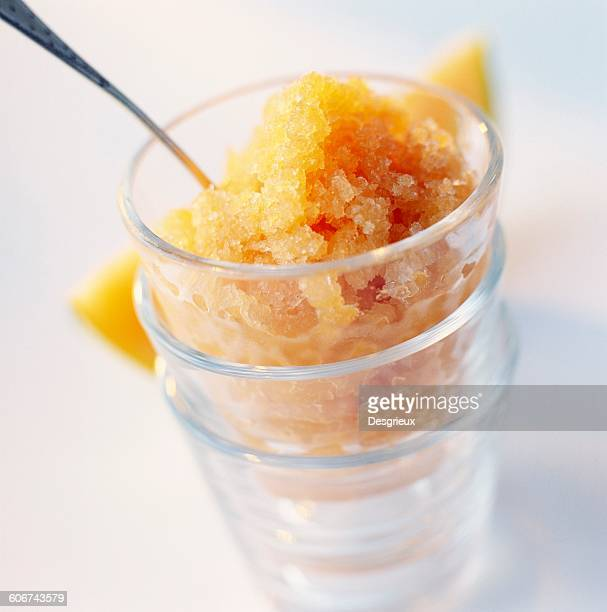 melon and pineau des charentes granita