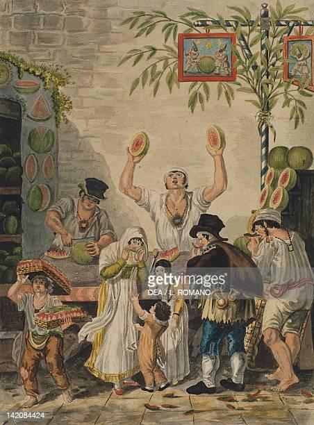 Melon seller Italy 19th century