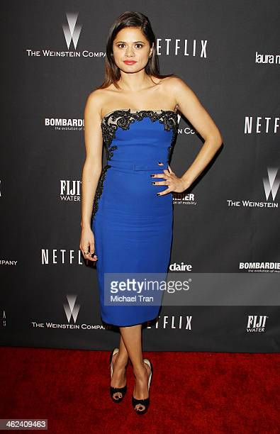 Melonie Diaz arrives at The Weinstein Company and NetFlix 2014 Golden Globe Awards after party held on January 12 2014 in Beverly Hills California